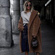 Autumn And Winter Fashion Pure Color Loose Casual Lapel Warm Coat - Fashion Store Max Mara Teddy Coat, Oversized Grey Sweater, Self Portrait Dress, Modern Outfits, Fashion Outfits, Womens Fashion, Everyday Fashion, Autumn Winter Fashion, Coats For Women