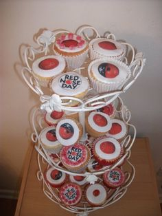 Red Nose Day Cupcakes by Lisa James
