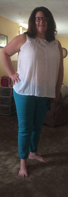 Liverpool skinny jean - sz. 16 - honey punch blouse 2x - jean $78