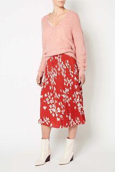 Midi Plisse Skirt