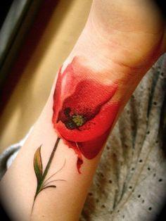 Klaproos tattoo