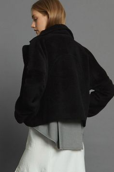 Covet Coat - Black Llama Minimal Beauty, Aw17, Winter White, Luxury Fashion, Dressing, The Incredibles, Coat, Sweaters, Collection