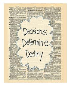 'Destiny' Dictionary Print #zulily #zulilyfinds