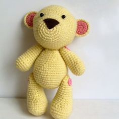 Mr. Teddy amigurumi crochet pattern by Ahmaymet  Has movable limbs.
