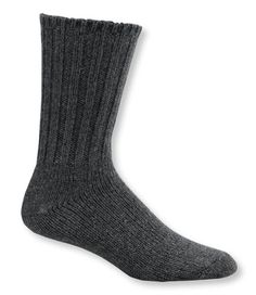 The softest wool ragg socks we've found– and unlike many others, these can go right into the washer and dryer. Made of premium, itch-free Australian merino wool and nylon/elastic for durability and stretch. USA (wool imported). Sold in set of two pairs. Charcoal, Gray: two pairs of same color. Hunter Multi, Navy Multi: two pairs, one of each color as shown.