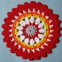 Crochet Mandala Wheel made by  Dominique, Paris, France, for  yarndale.co.uk