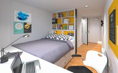 We have a range of high quality student accommodation rooms available in York. View the full range of our student rooms and facilities. Student Bedroom, Student Home, Student Apartment, Student Living, University Rooms, Student Dormitory, Studio Room, Home Room Design, Dorm Room
