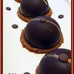 recette Dômes au chocolat à la mousse de poire et croquant spéculos