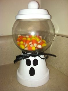 Bubble gum ball style candy jar