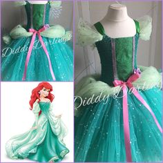 Hey, I found this really awesome Etsy listing at https://www.etsy.com/listing/265049263/ariel-ballgown-tutu-dress-little-mermaid