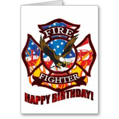 Sold this Fire fighter birthday card to a customer in Iowa. #firefighter #birthdaycards