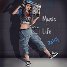 girly_m, music, and hip hop image Tumblr Drawings, Girly Drawings, Cool Girl Images, Girly M Instagram, Look Hip Hop, Baile Hip Hop, Estilo Hip Hop, Hip Hop Girl, Cute Girl Drawing