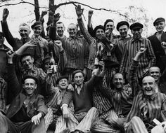Polish inmates at Dachau concentration camp celebrate their liberation by elements of the U. Army's and Infantry Divisions, XV Corps, of the Seventh United States Army. Dachau was the first concentration camp opened by the Germans,. Margaret Bourke White, Wtf Fun Facts, Random Facts, Red Army, Interesting History, Interesting Facts, The Victim, World History, History Pics
