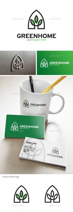 Green House - Logo Design Template Vector #logotype Download it here: http://graphicriver.net/item/green-house-logo/12936309?s_rank=1509?ref=nexion