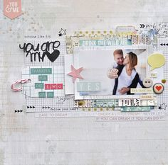 #papercraft #scrapbook #layout. You Are my Heart- scrapbooking