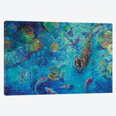 Coy Canvas Print #IRS166} by Iris Scott Canvas Artwork