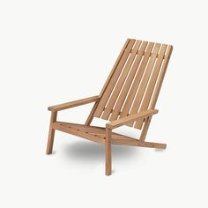 Danish modern outdoor wooden chair that's built to withstand different weather conditions