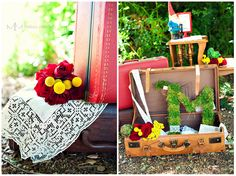 Vintage French wedding inspiration with lots of color.  Shoot by Melissa Munding Photography
