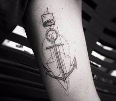 Anchor tattoo by Balazs Bercsenyi