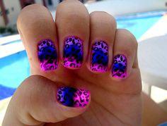 cheetah purple and pink so cute