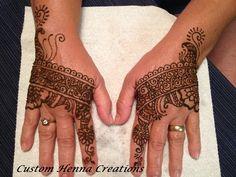 Henna on hands, mehndi