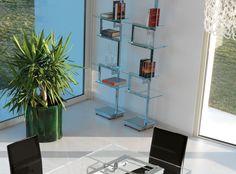 Libreria a giorno autoportante bifacciale in metallo design HERITAGE | Libreria design - ITALY DREAM DESIGN