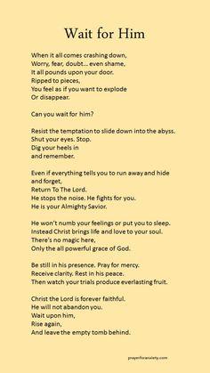 Wait upon God