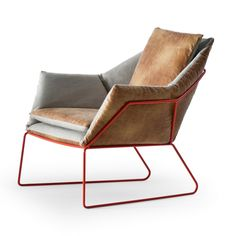 Sergio Bicego; Powder-Coated 'New York' Lounge Chair for Saba, 2012.
