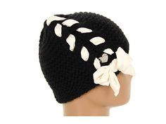 Betsey Johnson Lace Up Cable Skull Cap Black. I'm not sure I like the thick ribbon, but this could be very sweet with a smaller one.