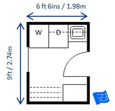 Mid size x x laundry room sized for North American appliances. Lots of storage and big drying rack. Click through to the website for more commentary on this laundry room floor plan and more laundry design. Garage Laundry Rooms, Pantry Laundry Room, Laundry Room Layouts, Laundry Room Remodel, Laundry In Bathroom, Small Laundry, Bathroom Mat, Shower Remodel, Bathroom Ideas