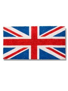 """Union Jack Flag Doormat by Abbott Collection. $29.95. Size: 0.5"""" H x 28.7"""" L x 16.9"""" W. Material: COIR FIBRE. You get 1 Piece. Made In India. Color: Multicolor. Welcome royalty, guests from Canada, or brag about your recent trip to the UK! Traditional red, white and blue design of the British flag is a just for fun doormat thats sure to be a conversation piece. New to Porchscapes, this rubber-backed coir construction measures 17"""" x 29 x 58. Mat is durable, fade resistan..."""