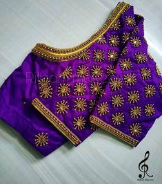 Simple Blouse Designs, Silk Saree Blouse Designs, Bridal Blouse Designs, Silk Sarees, How To Stitch Blouse, Mirror Work Blouse Design, Maggam Work Designs, Hand Embroidery, Embroidery Designs