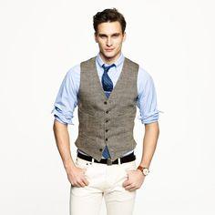 f0fff89d69f Ludlow vest in herringbone Italian linen · Suit VestVest MenWedding ...