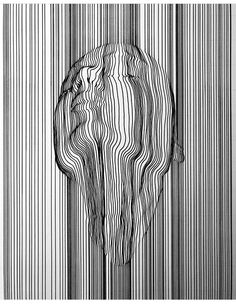 Aartfinesse a dublin based artists creates beautiful line work focusing oncross contour line art Illusion Kunst, Illusion Art, Illusion Paintings, Op Art, Contour Line Art, Cross Contour Line Drawing, Gesture Drawing, Art Sketches, Art Drawings