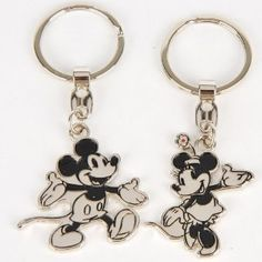 Wedding gift:Mickey Mouse Keychain Key Chain Ring 2pcs Couple
