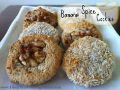 Banana Spice Cookies (Grain, Gluten, Dairy & Sugar Free)