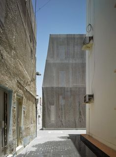 Called Dar Al Jinaa and Dar Al Riffa, the buildings are located in Muharraq. The old town was formerly the centre of Bahrain's pearl fishing and is now known for its traditional music and arts. The architects chose a similar style to complete the two centres, which included renovating an existing house, known as Dar, and adding a community space. This will host traditional music performances and is called a Majlis.