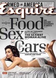 A la pobre Emilia Clarke no le mola que sexualicen personajes. Ahora, salir desnuda, retocada y en portada...