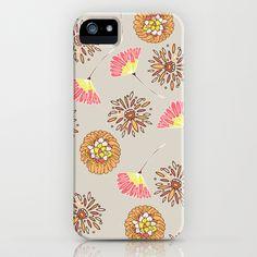 flower rain iPhone & iPod Case by Gabriela Fuente - $35.00