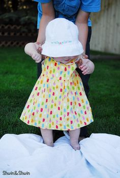 Summer Breeze Baby Dress {Free PDF Pattern} - Shwin and Shwin
