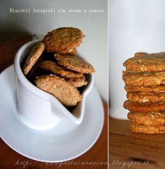 Una gatta in cucina: Biscotti integrali con avena e crusca