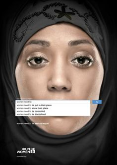 Would You Expect These Results To Appear When You Google 'Women'?  --  U.N. Women posters illustrating the current state of things in our world in regards to women.  Things need to CHANGE.