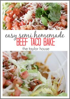 Easy Semi Homemade Beef Taco Bake Recipe that's perfect for Super Bowl Sunday! #ad #BigGameAppetites
