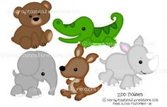 Zoo Babies SVG Cutting Files  www.scraptasticalkreations.com