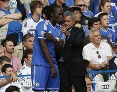 Morinho en Lukaku in zijn Chelsea-tijd.
