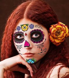 9340d180da223 Floral Day of the Dead Sugar Skull Temporary Face Tattoo Kit - Pack of 2  Kits