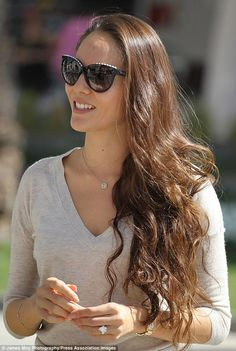 Jessica Michibata, girlfriend of Jenson Button sported a big ring on her finger in Sakhir, Bahrain.