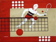 Marushka Tennis Print