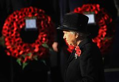 Queen Elizabeth II attends the Remembrance Day Ceremony at the Cenotaph on November 13, 2011 in London, United Kingdom. Politicians and Royalty joined the rest of the county in honouring the war dead by gathering at the iconic memorial to lay wreaths and observe two minutes silence.