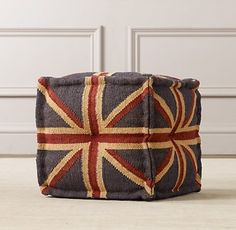 Union Jack Ottoman - eclectic - ottomans and cubes - - by Restoration Hardware Baby & Child